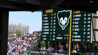 Wrigley scoreboard