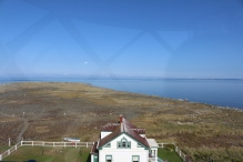 The house that formerly housed lighthouse keepers. Now what the volunteers stay in.