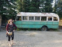 "Replica bus from the ""Into the Wild"" story. The real one is near Denali, but several people drowning to get to it inspired the brewery to obtain the bus used for the movie."