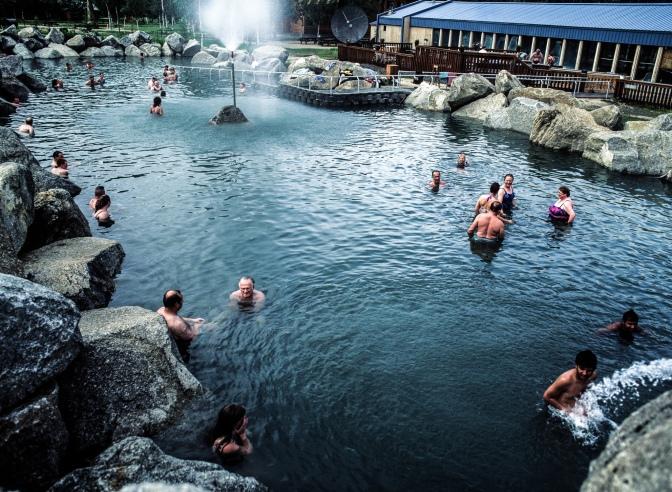 Natural mineral hot springs