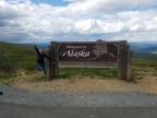 John and Katie's Alaska RV Trip 2017: Crossing the Border into Mainland Alaska, Our First Flat Tire, and the Town of Chicken